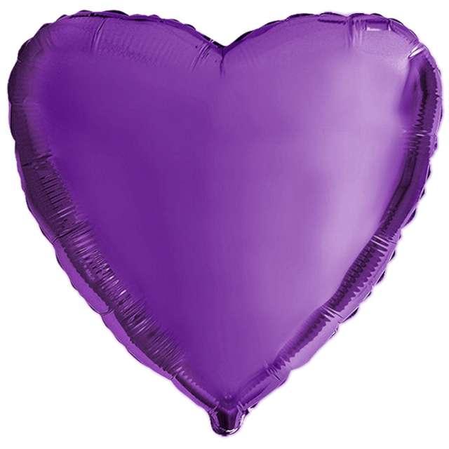 Balon foliowy Miłosne serduszko fioletowy Flexmetal 9 HRT