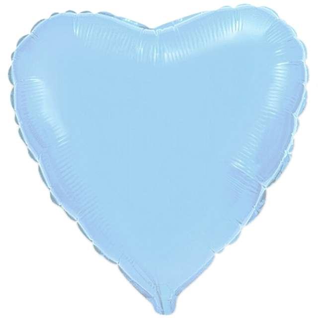 Balon Serce błękitny FLEXMETAL 9 HRT