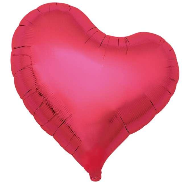 Balon foliowy 5 serc metaliczny czerwony Ibrex 18 5 szt.