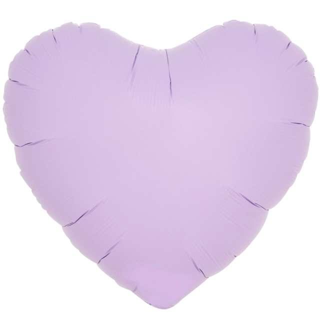 _xx_Balon foliowy SERCE pastelowy lawendowy 14 - 5 szt.