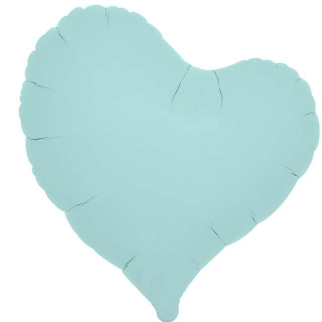 _xx_Balon foliowy SERCE pastelowy niebieski 14 - 5 szt.