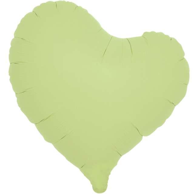 _xx_Balon foliowy SERCE pastelowy zielony 14 - 5 szt.
