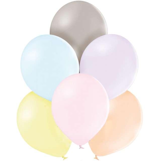 """Balony """"Kolorowe makaroniki"""", mix, Belbal, 12"""", 100 szt,"""