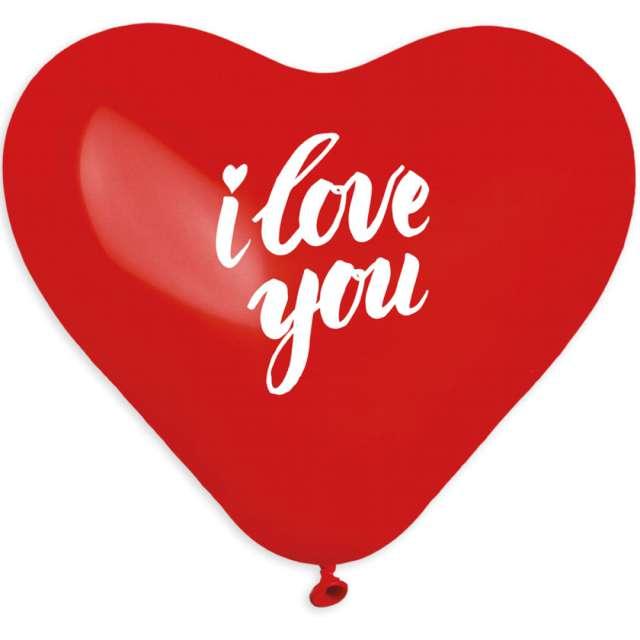 """Balony """"I love you - wyznanie"""", czerwone, lateksowe,  Godan, 12"""", 50 szt"""
