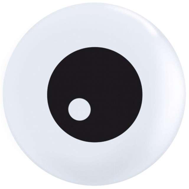 """Balony """"Oczy oczka"""", czarno - białe, Qualatex, 5"""", 100 szt."""