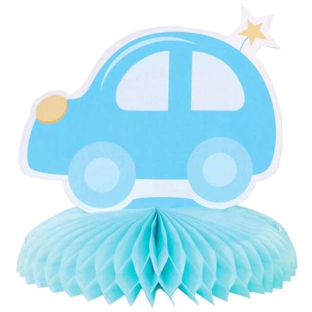 """Dekoracja """"Auto z rozetą"""", niebieska, Godan"""