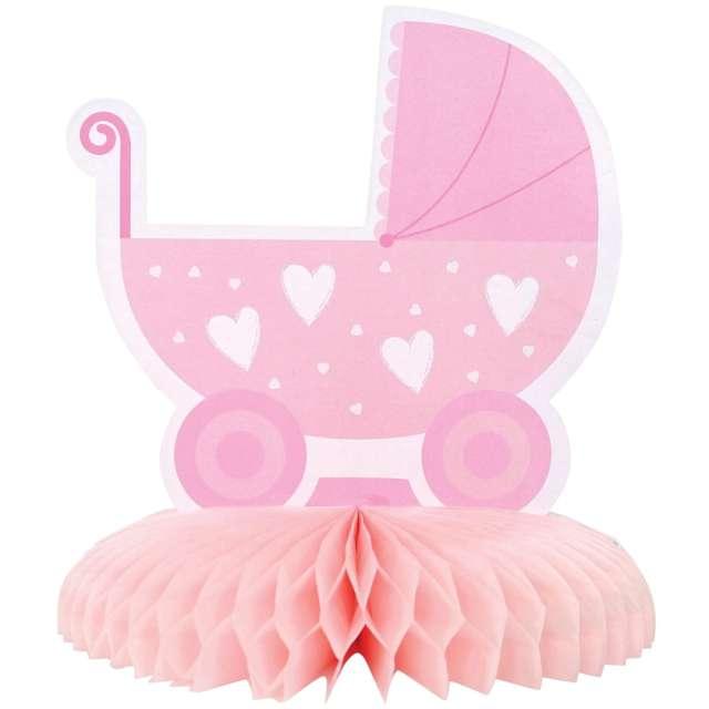 _xx_Dekoracja na stół WÓZEK papierowa baby shower - 16 cm