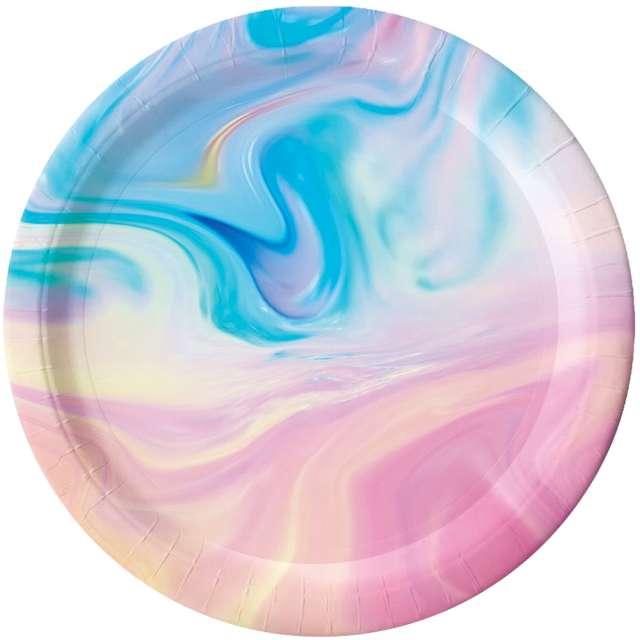Talerzyki papierowe Pastelowy mix kolorowe Godan 6 szt
