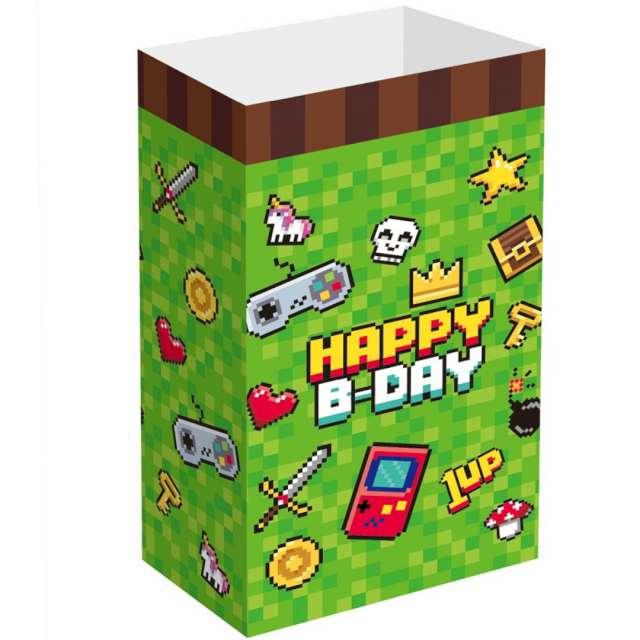 _xx_Torebki papierowe na cukierki GAME ON - 6 szt.