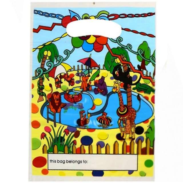 """Torebki prezentowe """"Party na basenie"""", kolorowe, foliowe, Godan, 10 sztuk"""