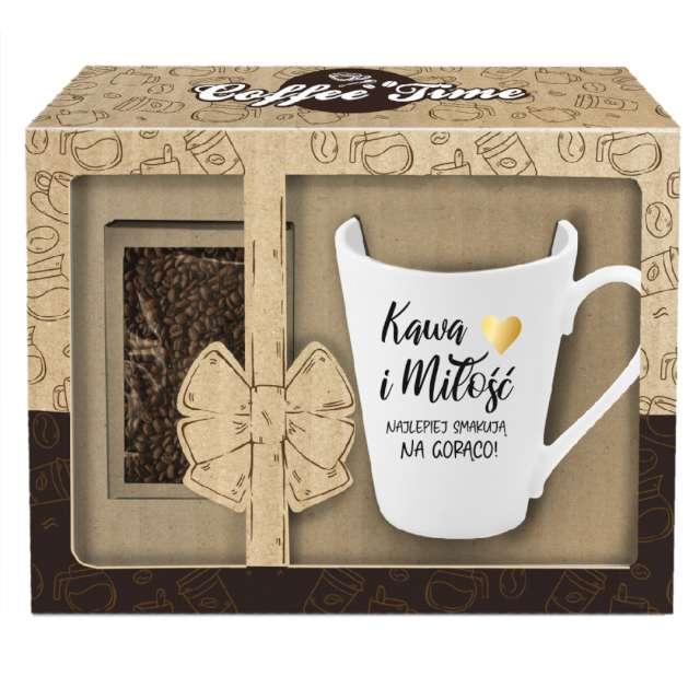 Kubek Kawa i miłość biały z nadrukiem BGtech 300 ml