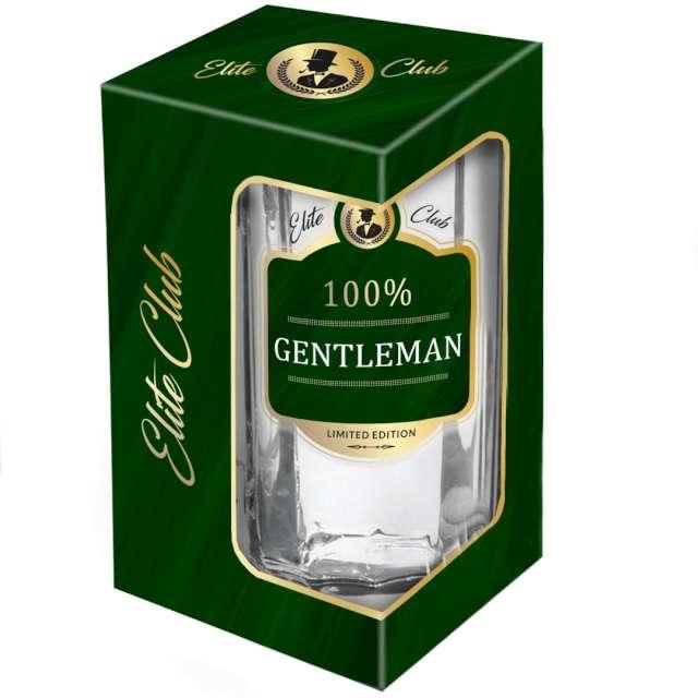 Kufel szklany 100% Gentleman przezroczysty BGtech 500 ml