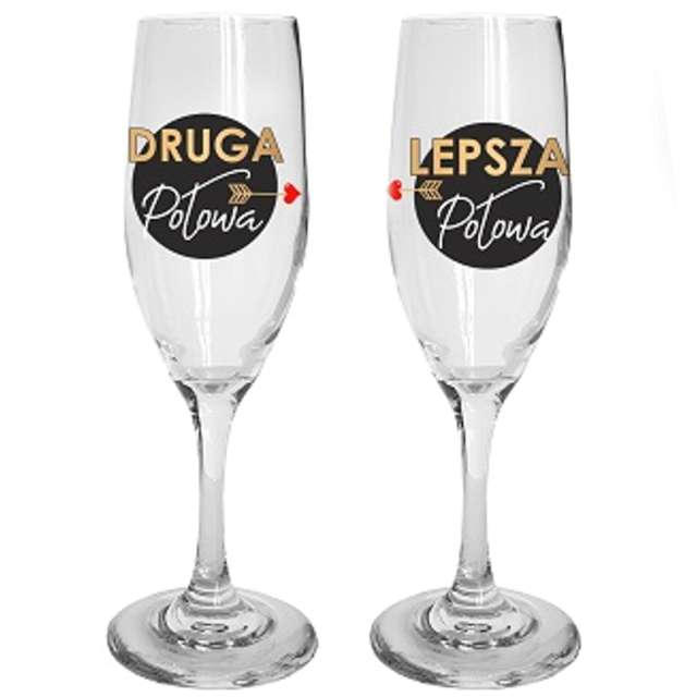 Kieliszki do szampana Zgrany duet szklane BGtech 170 ml 2 sztuki