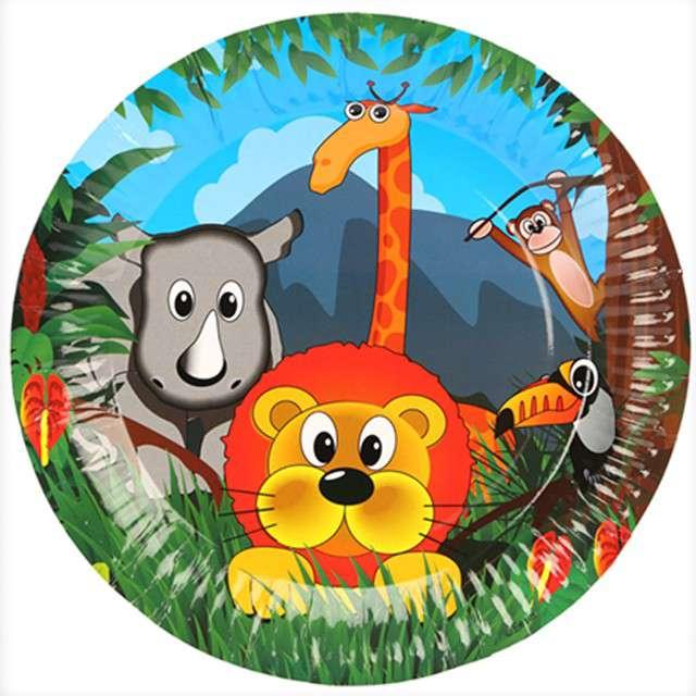 """Talerzyki papierowe """"Zwierzaki Safari"""", Ravi, 18 cm, 6 szt"""