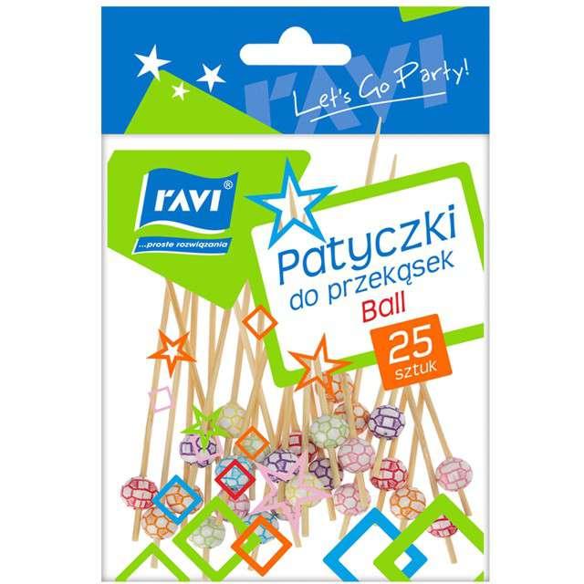 Pikery koktajlowe Kolorowe Piłki mix Ravi 25 szt