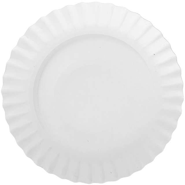 Talerzyki papierowe Classic białe Ravi 23 cm 12 szt