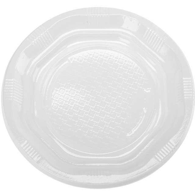 """Talerzyki plastikowe """"Classic"""", białe, Ravi, 17 cm, 12 szt"""
