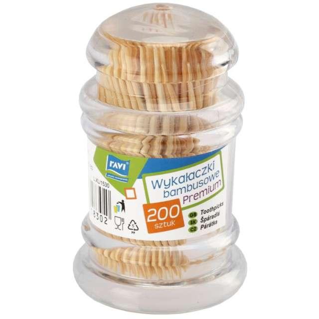 Wykałaczki Premium bambusowe Ravi 200 szt