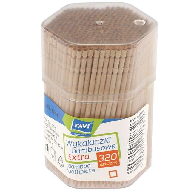 """Wykałaczki """"Extra"""", bambusowe, Ravi, 320 szt"""
