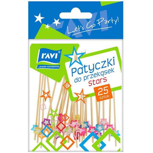 Pikery koktajlowe Gwiazdkowe kontury mix Ravi 25 szt