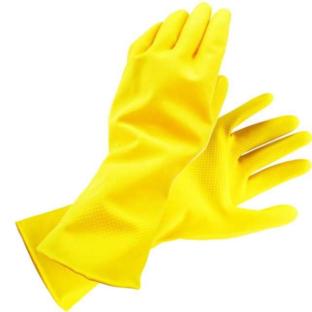 Rękawice domowe Classic żółte Ravi rozmiar L