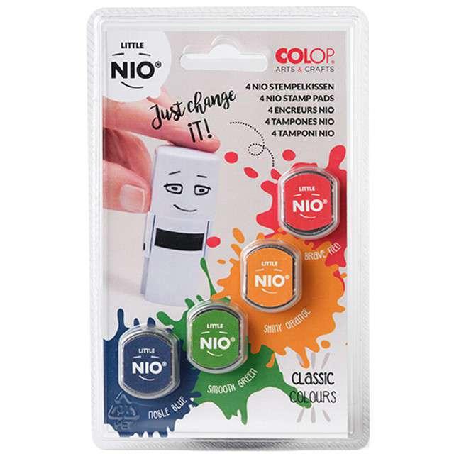 Poduszki do pieczątek NIO - kolory podstawowe mix 4 szt