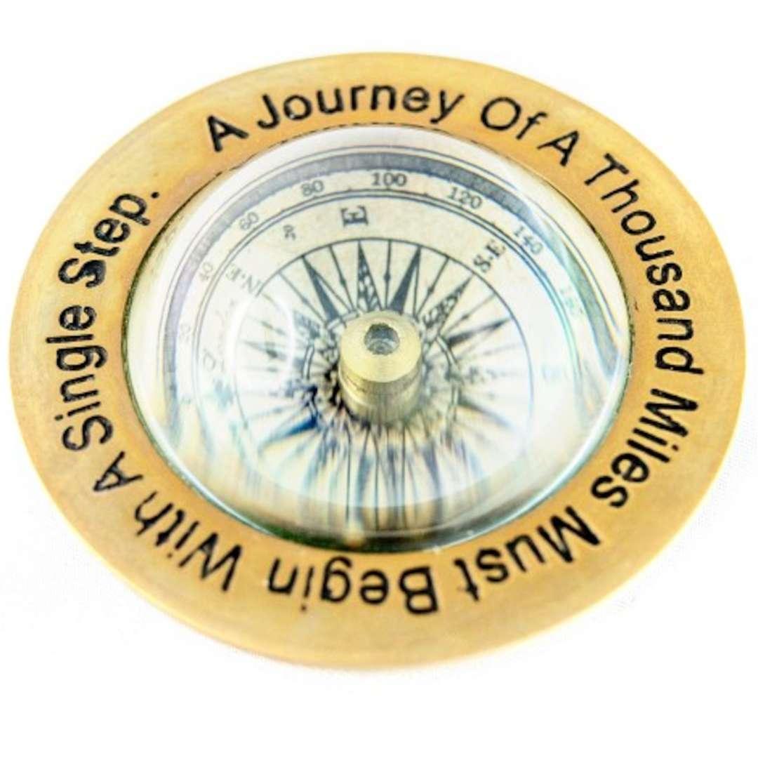 _xx_Mosiężny kompas soczewkowy