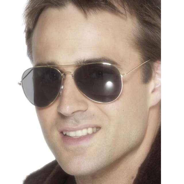 Okulary party Pilotki czarno-brązowe Smiffys