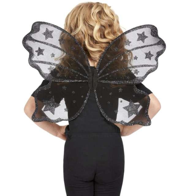 Skrzydła Wróżka motyl czarne Smiffys