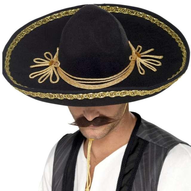 Kapelusz Meksykańskie sombrero czarny Smiffys