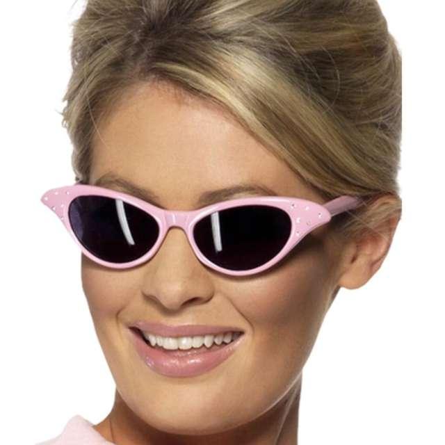 Okulary party Styl Rock N roll różowe Smiffys