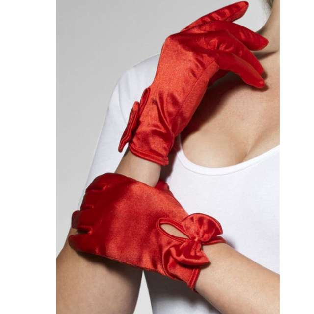 Rękawiczki Krótkie Gloves czerwone Smiffys