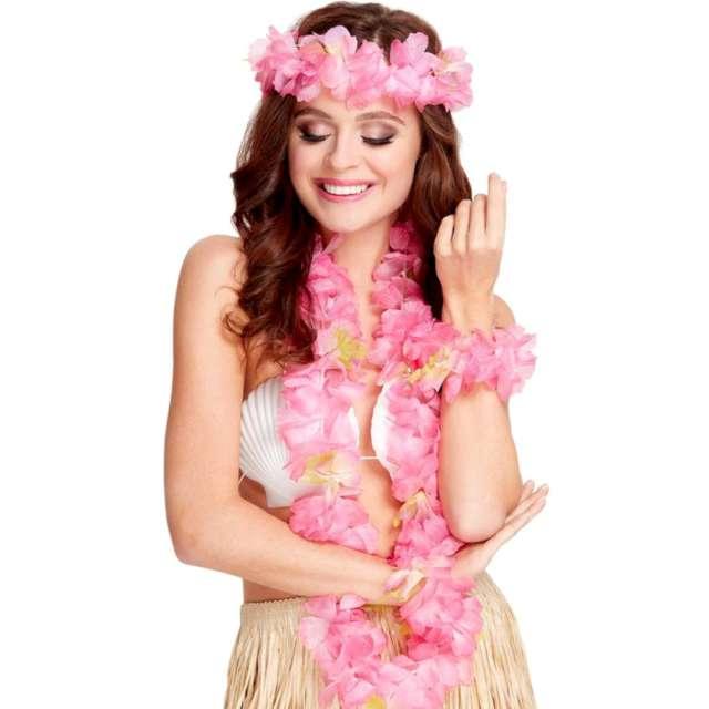 """Naszyjnik """"Hawajski Loka"""", różowy, Smiffys"""
