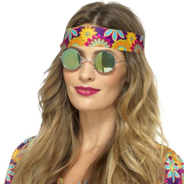 Okulary party Hipiska w lustrzankach Smiffys rozm. uniwersalny