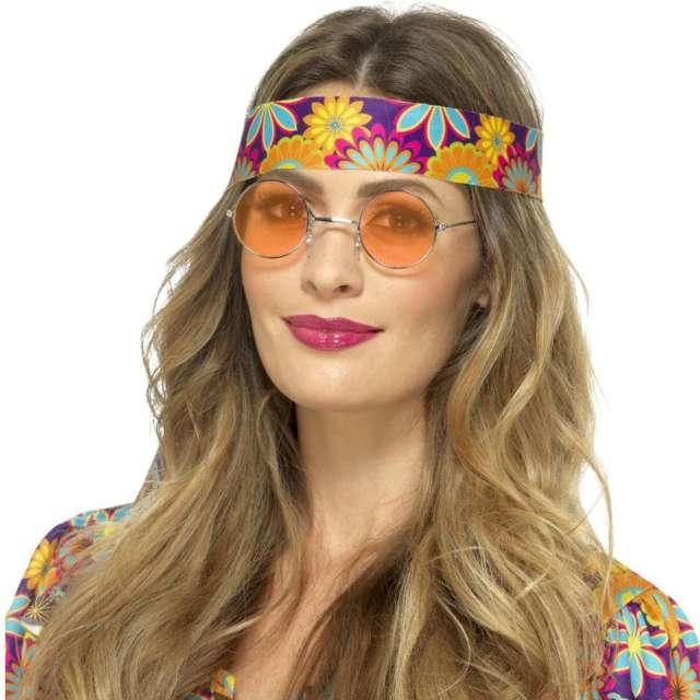 Okulary party Hipiska w pomarańczowych Smiffys rozm. uniwersalny