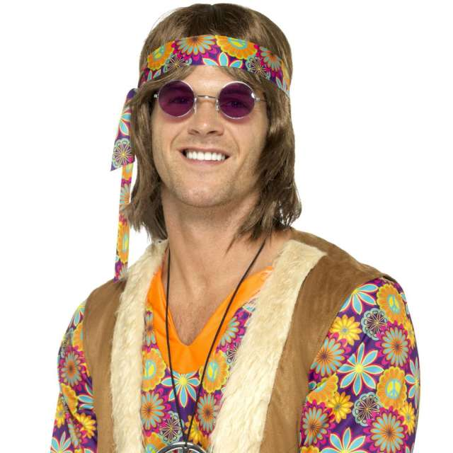 Okulary party Hipiska w purpurowych Smiffys rozm. uniwersalny