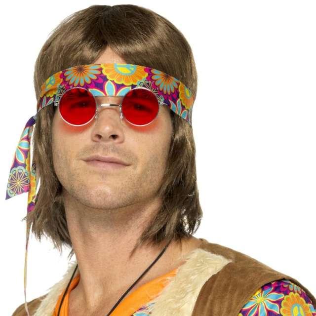 Okulary party Hipiska w czerwonych Smiffys rozm. uniwersalny