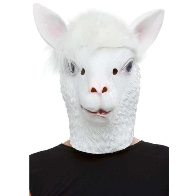 Maska lateksowa  Lama biała Smiffys