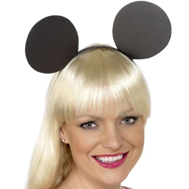 Opaska party Uszy myszki  czarna Smiffys