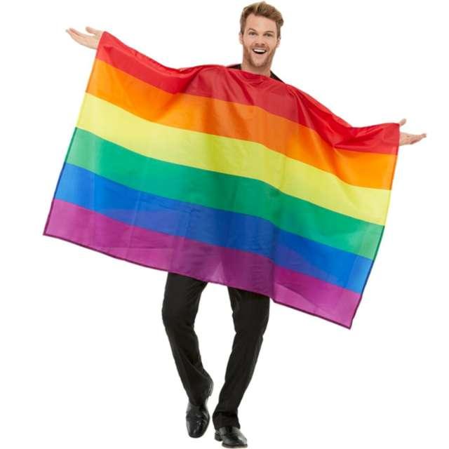 """Strój kostium """"Tęczowa flaga"""", kolorowa, Smiffys"""