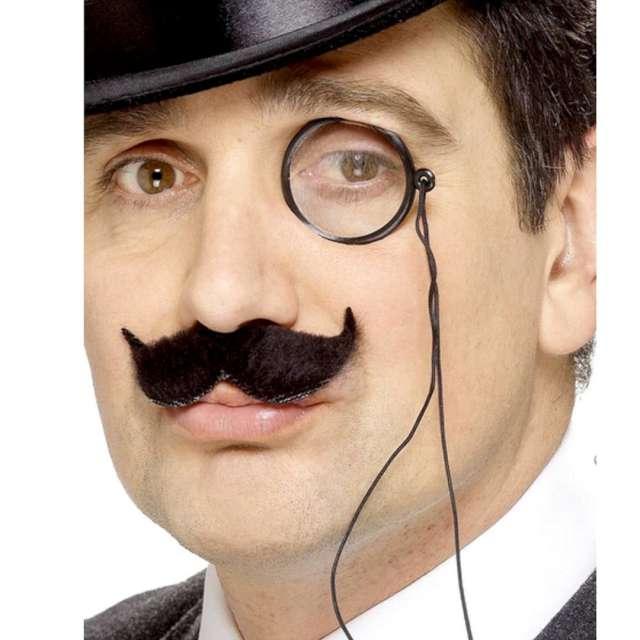 Okulary party Monokl klasyczny na sznurku czarny Smiffys