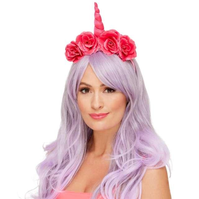 """Opaska party """"Unicorn jednorożec"""", różowa, Smiffys"""