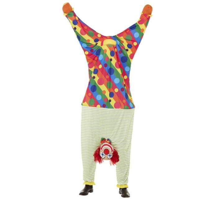 Strój kostium Klaun do góry nogami kolorowy Smiffys