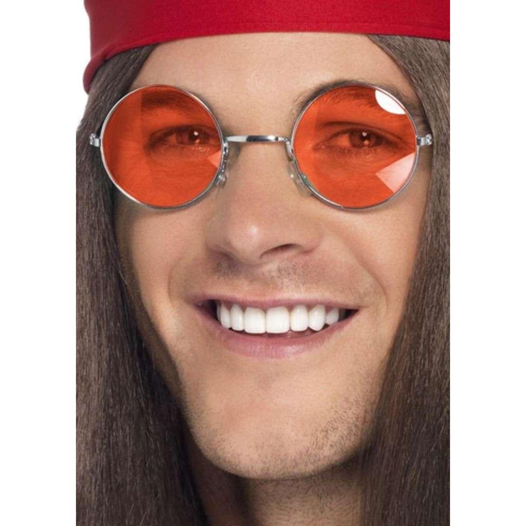 Okulary party Hipis w pomarańczowych Smiffys rozm. uniwersalny