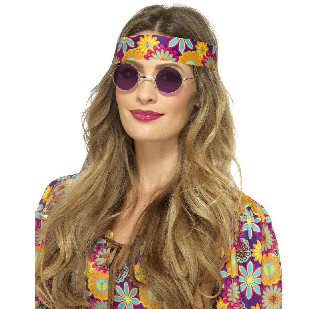 """Okulary party """"Hipiska w purpurowych"""", Smiffys rozm. uniwersalny"""