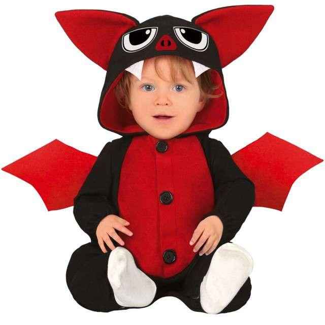 """Strój dla dzieci """"Batman"""", czarno-czerwony, Guirca, 12-24 miesiące"""