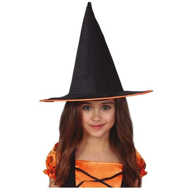 """Kapelusz """"Mała Czarownica"""", czarno-pomarańczowy, GUIRCA"""