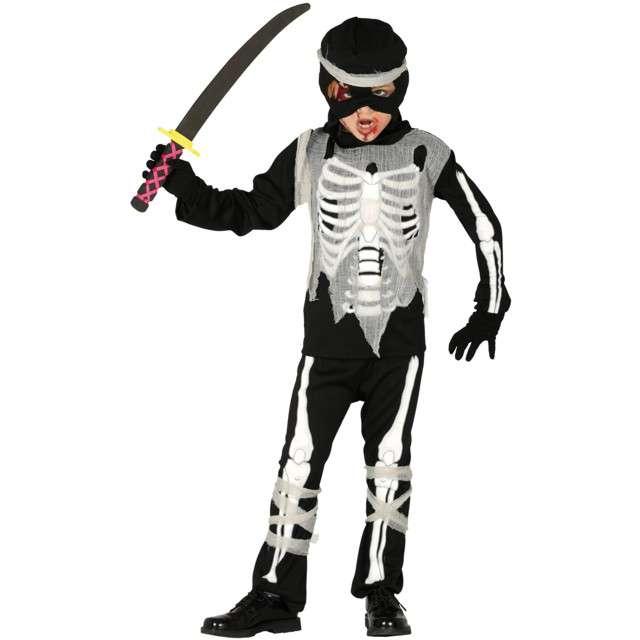"""Strój dla dzieci """"Kościotrup ninja"""", czarno-biały, Guirca, 7-9 lat"""