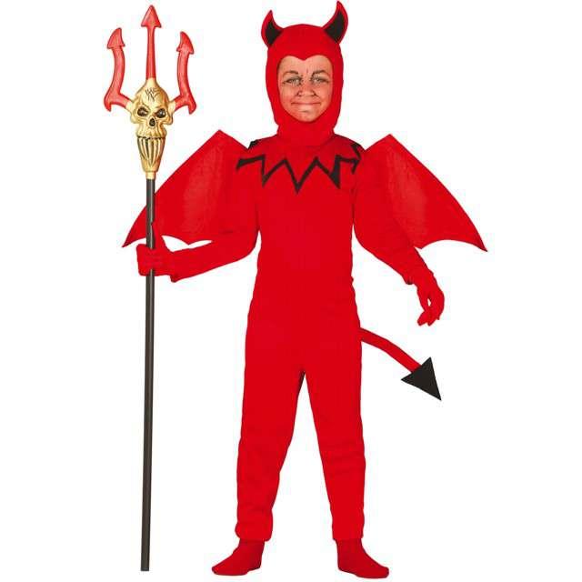 """Strój dla dzieci """"Diabeł kombinezon"""", czerwony, Guirca, 7-9 lat"""