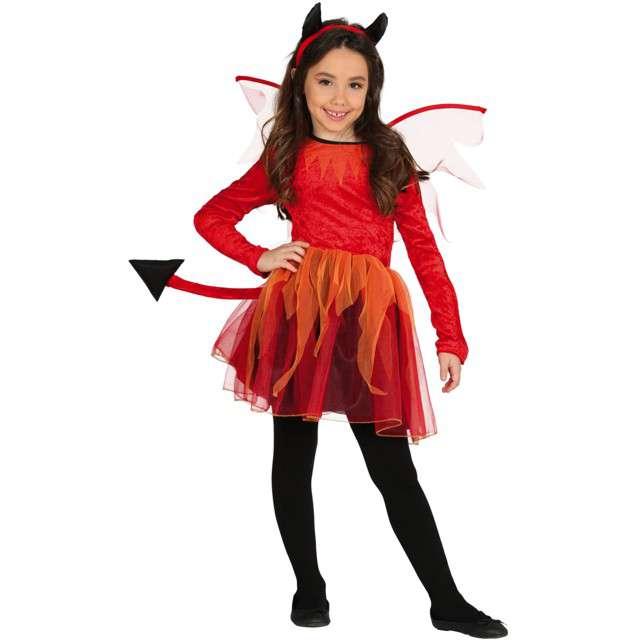 """Strój dla dzieci """"Diabełkowa Diablica"""", kolorowy, Guirca, 5-6 lat"""